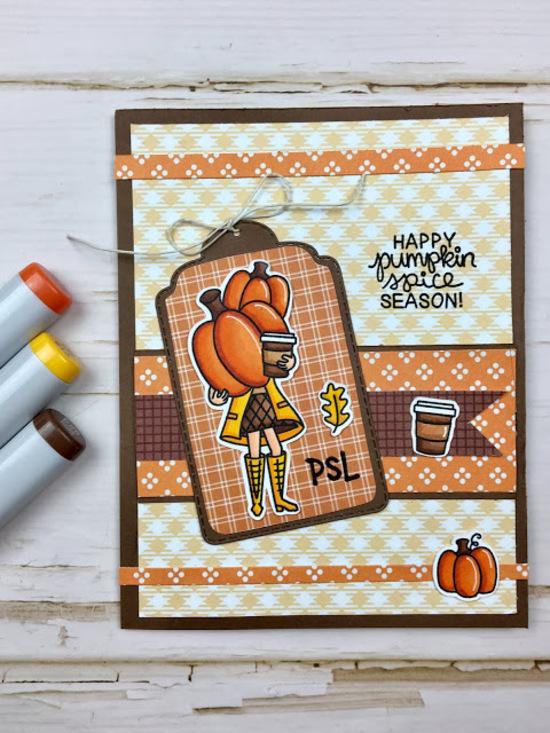 Happy pumpkin spice season by Meghan features Pumpkin Latte by Newton's Nook Designs; #newtonsnook