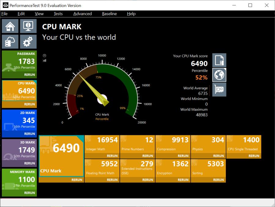 Uji CPU Mark