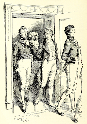 The gentlemen join the ladies after dinner   Pride and Prejudice by Jane Austen (1813) Illustration by C E Brock (1895)