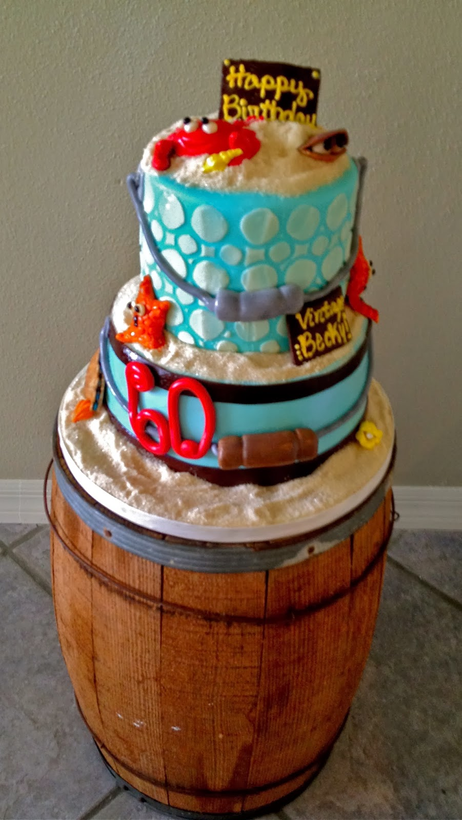 75th Birthday Cakes - Ideas for Show-Stopping Birthday Cakes |Beach Themed Birthday Cakes