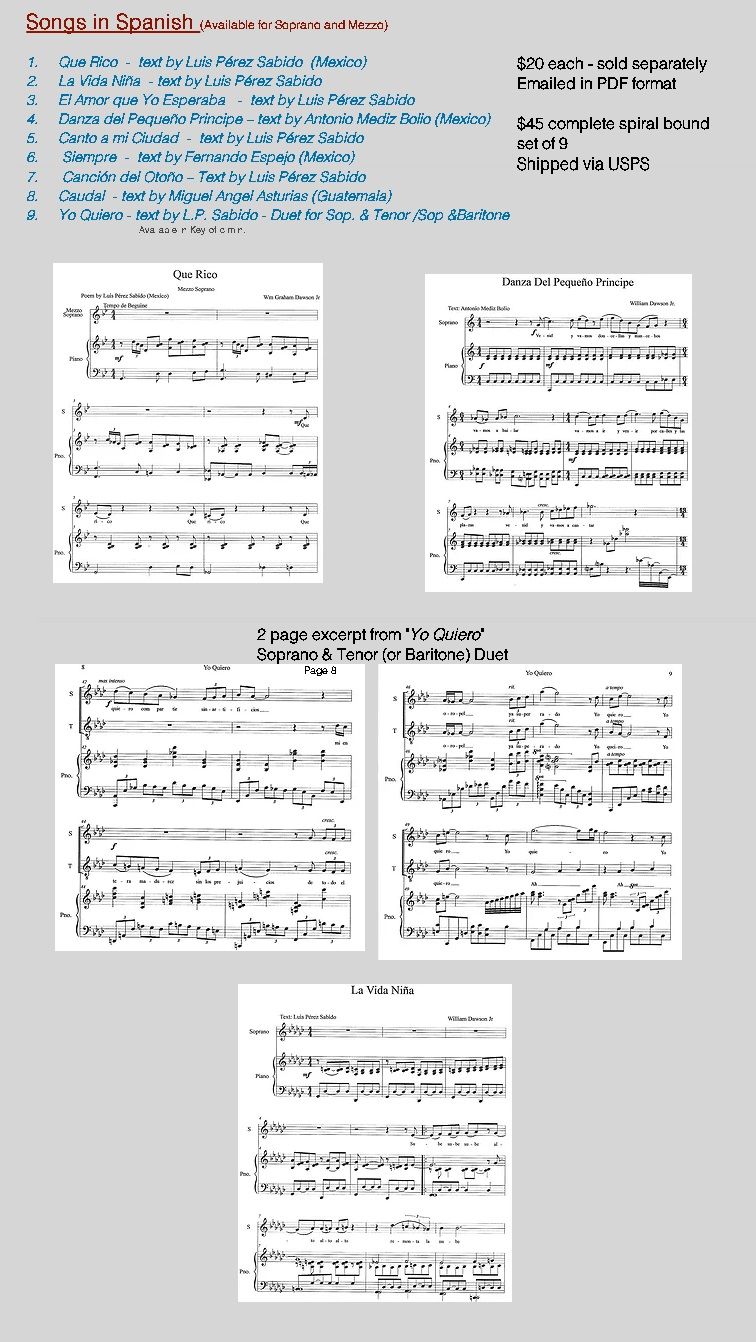 Compositions for Voice ( Spanish )