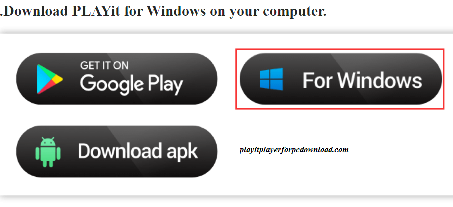 playit apk for pc