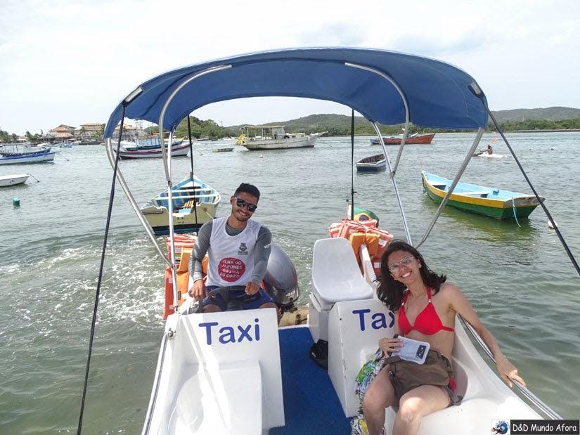 Táxi marítimo em Cabo Frio (RJ) com a Guga Tour