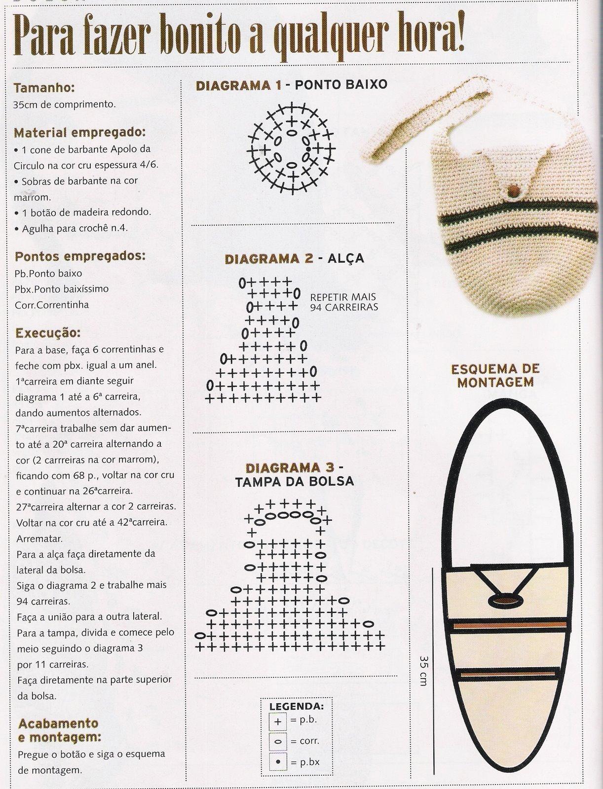 Dorable Bolsa Patrón De Crochet Embellecimiento - Ideas de Patrones ...