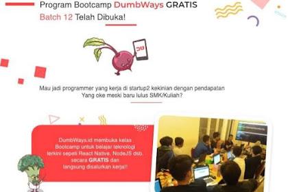 Pelatihan pemrograman HTML, CSS, PHP dan MYSQL GRATIS di Bootcamp DumbWays