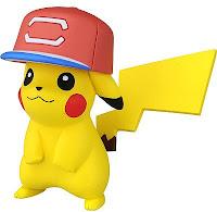 Alola Cap Pikachu alternative pose in Takara Tomy MONCOLLE EX Shaky Case