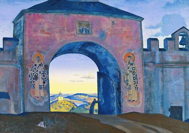 Николай Рерих - И открываем врата. 1922