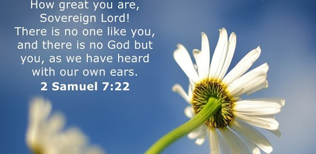 How great you are, Sovereign Lord! There is no one like you, and there is no God but you, as we have heard with our own ears.