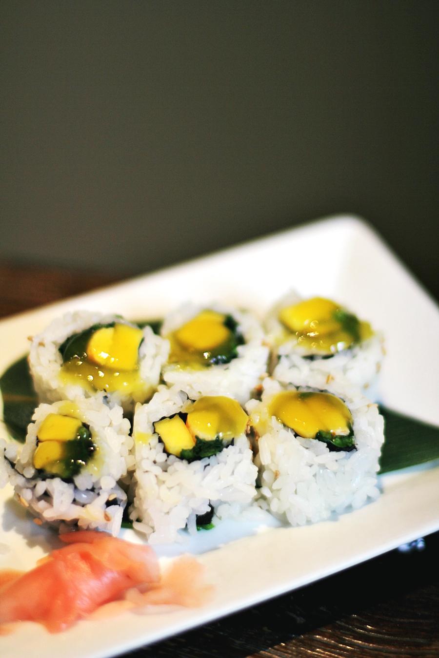 mango sushi tofu
