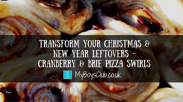 Transform Your Christmas & New Year Leftovers - Cranberry & Brie Pizza Swirls