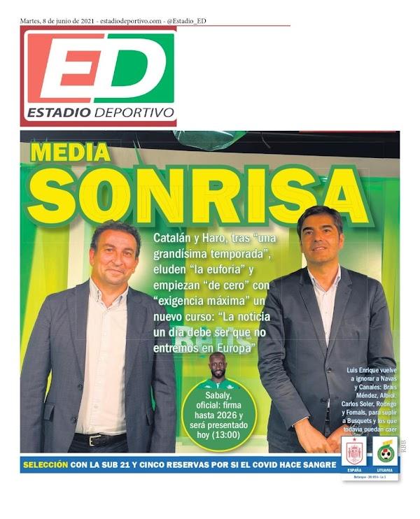 "Betis, Estadio Deportivo: ""Media sonrisa"""