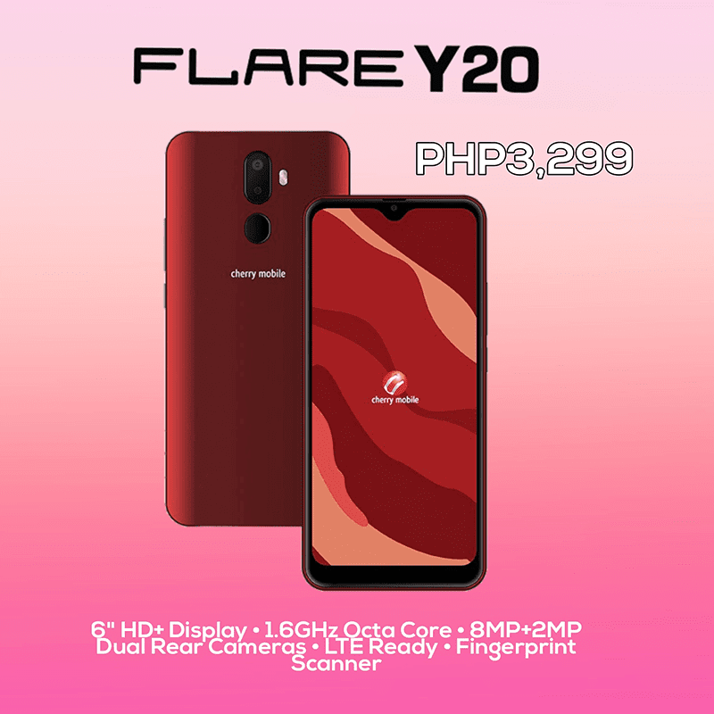 Cherry Mobile's Flare Y20 offers a 6-inch display, 4G LTE, and more for PHP 3,299