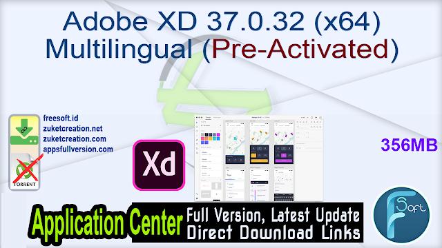 Adobe XD 37.0.32 (x64) Multilingual (Pre-Activated)