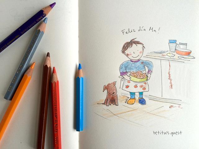Feliz día Ma! - Sketchbook - betitu's quest