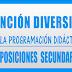 ATENCIÓN A LA DIVERSIDAD PROGRAMACIÓN DIDÁCTICA OPOSICIONES SECUNDARIA