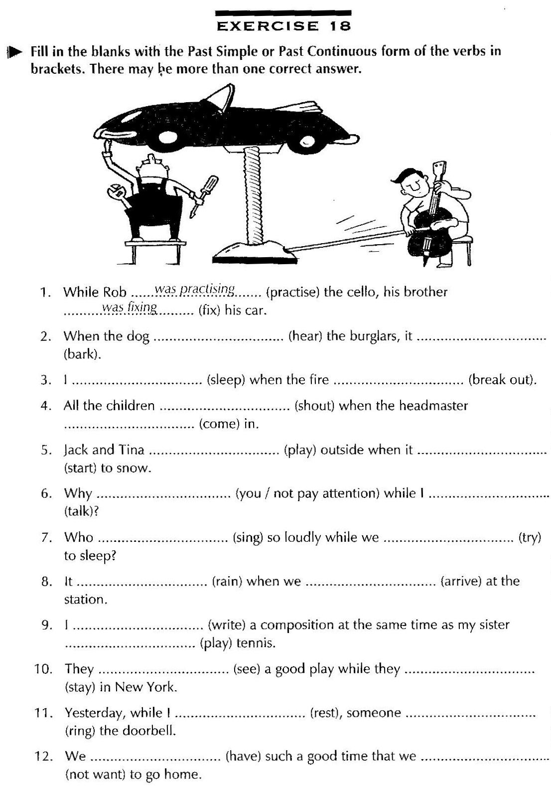 Verbs Present And Past Tense Ed Worksheet