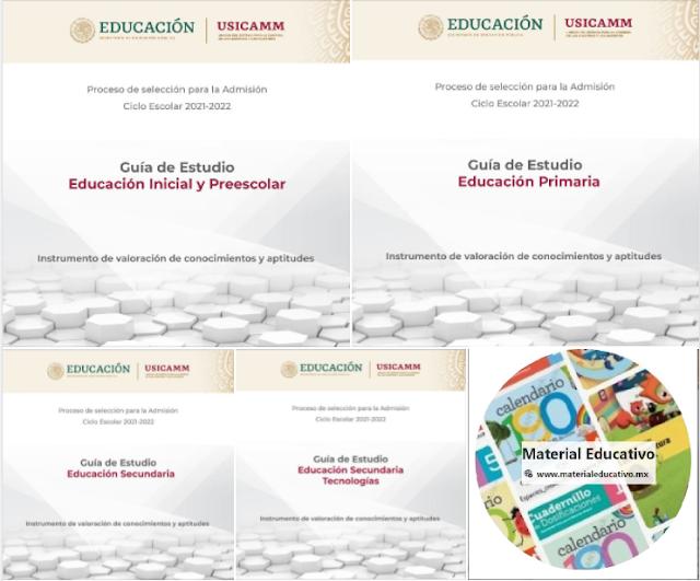 USICAMM - Guías de Estudio para el Proceso de Admisión 2021 - 2022