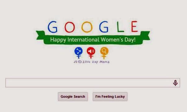 Google Doodle celebrating International Women's Day 2014