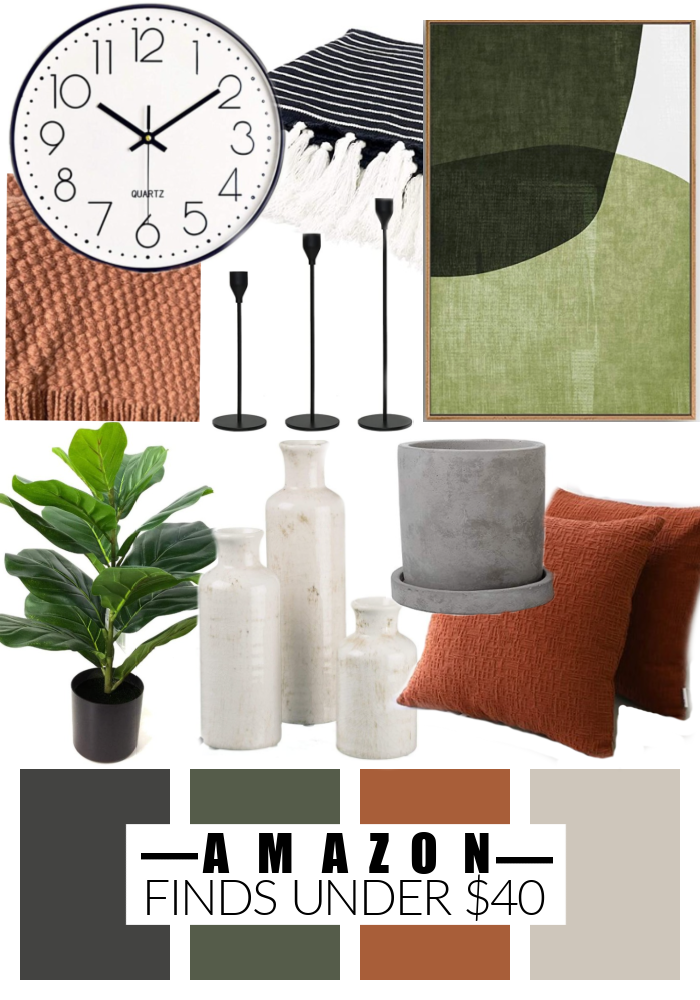 Natural and earthy decor under $40 from Amazon