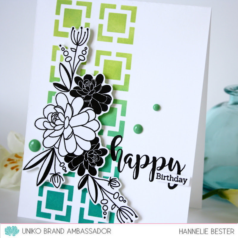 UNIKO clear stamps and stencils