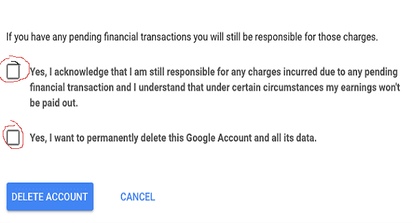 حذف حساب جوجل بالصور