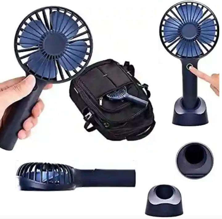 YIHunion Cooling Fans: Mini USB Rechargeable Handheld Travel Fan with Detachable Stand