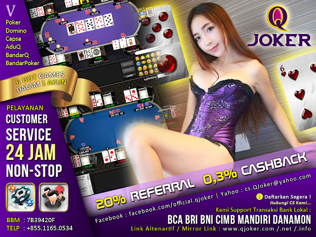 QJoker.com Bonus Deposit Setiap Hari Agen Poker Domino Kiu Kiu