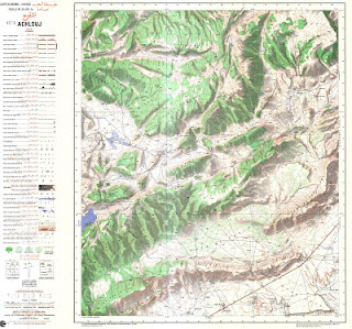 Achelouj Morocco 50000 (50k)Topographic map free download