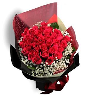 buket bunga mawar di bandung
