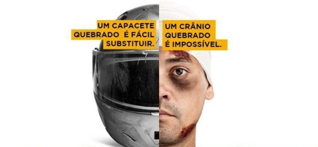 Resultado de imagem para campanha para uso do capacete