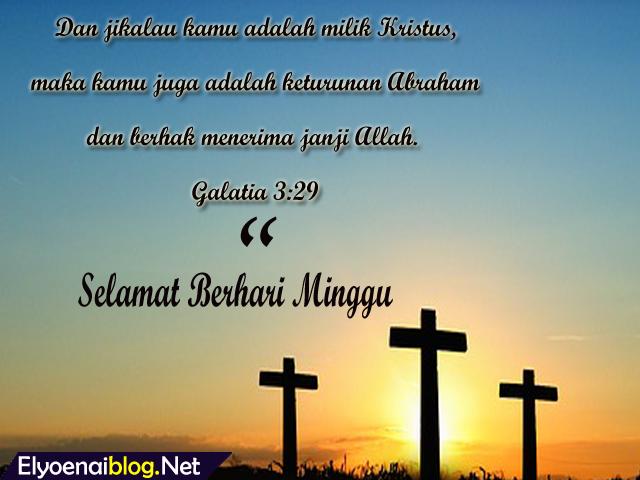 Kata Kata Alkitab Selamat Hari Minggu