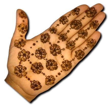 Easy Mehndi Design Flowers
