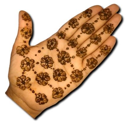 Easy Flower Mehndi Designs Front