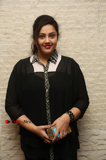 Tamil Actress Meena Latest Stills in Black Dress at TSR TV9 Awards Press Meet  0018.JPG