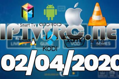Daily iptv m3u playlist 02 April 2020