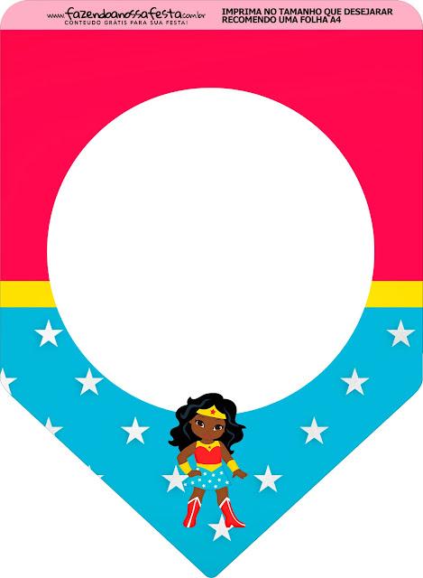 Cumpleaños de la Mujer Maravilla Afro: Imprimibles Gratis para Fiestas.