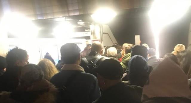 Le scale immobili della Metro a Termini