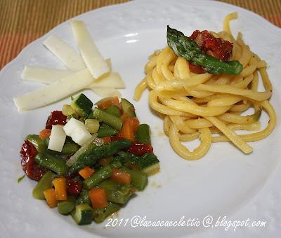 Cordoni di frate con ragù di verdure