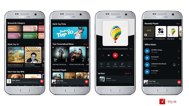 Wynk Best free music streaming app for Android