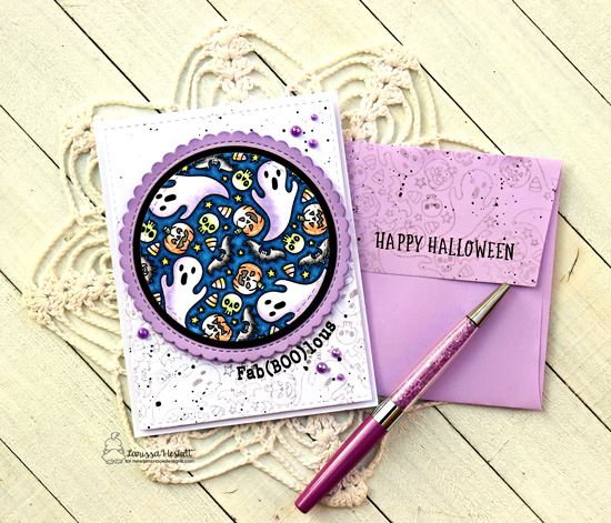 Fab(Boo)lous Halloween Card by Larissa Heskett | Spooky Roundabout Stamp Set, and Circle Frames Die Set by Newton's Nook Designs #newtonsnook #handmade