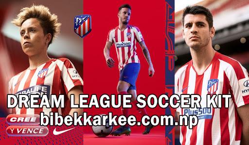 Atletico Madrid Dream League Soccer Kit and Logo for 2019/2020- LA LIGA