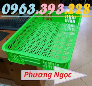 Sóng nhựa hở HS010, sọt nhựa cao 10 đựng nông sản, thùng nhựa rỗng HS010 SR2