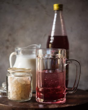 gond katira sharbat : a cooling drink with gum tragacanth, milk and rooh afza