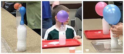 Inflating a balloon with vinegar and baking soda, baking soda and vinegar experiments for kids