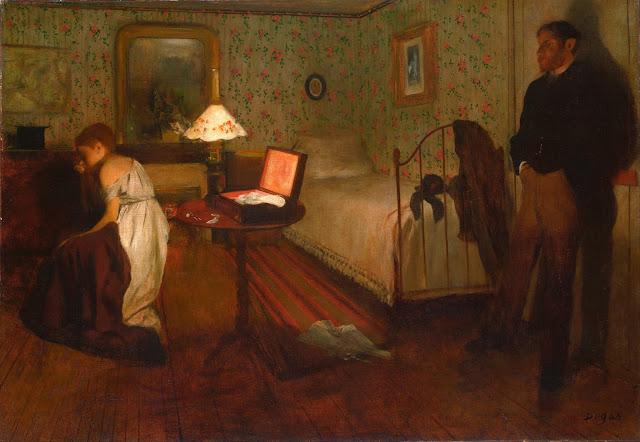Эдгар Дега - Интерьер (Изнасилование) (1868-1869)