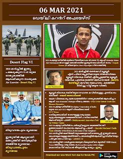 Daily Malayalam Current Affairs 06 Mar 2021
