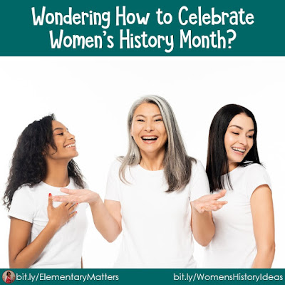 Wondering How to Celebrate Women's History Month? This post has several ideas, resources, activities, and links to amazing ideas on celebrating women and empowering girls!