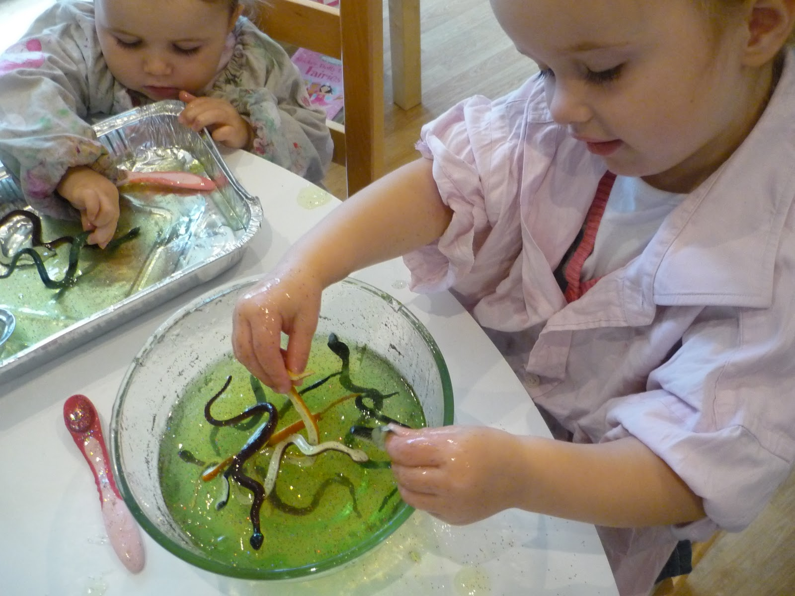 Messy Play Snakes In Jelly