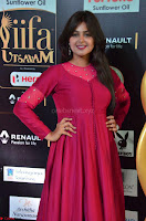 Monal Gajjar in Maroon Gown Stunning Cute Beauty at IIFA Utsavam Awards 2017i 002.JPG