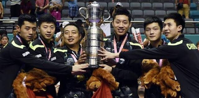 TENIS DE MESA - Mundial por equipos masculino 2016 (Kuala Lumpur, Malasia): China dominó en la final a los nipones